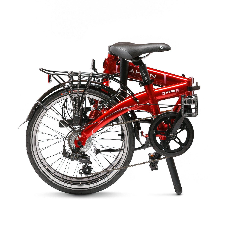 Dahon Vybe D7 Bicicleta Plegable, Unisex Adulto, Rojo Mars, 20