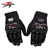 Probiker PROBK03 Full Racing Motorcycle Gloves (Black, Medium)