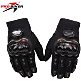 Probiker PROBK03 Full Racing Motorcycle Gloves (Black, Medium)
