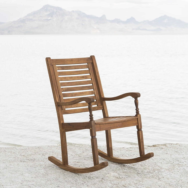 Amazon New Acacia Wood Outdoor Patio Rocking Chair Garden