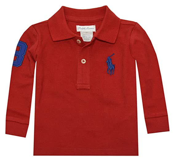 c37981c2b Ralph Lauren Baby Boys' Polo Shirt - red - 0-3 Months: Amazon.co.uk:  Clothing