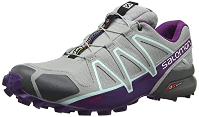 Salomon Damen Speedcross 4 Traillaufschuhe, Grau (QuarryAcaiFair Aqua 000), 42 EU