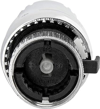 Diamond Thermostatkopf f/ür K/ühler Chrom Thermostat Heizsystem f/ür Thermostatische Heizk/örper Pneumatische Temperaturregelventile