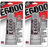 E6000 237040 Multipurpose kecmvC Adhesive, 2 fl oz Black (Pack of 2)