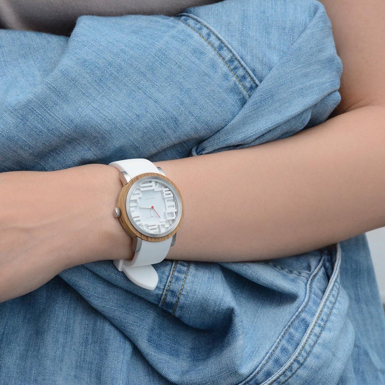 Relax Akku Frauen Analog Armbanduhr Weiß