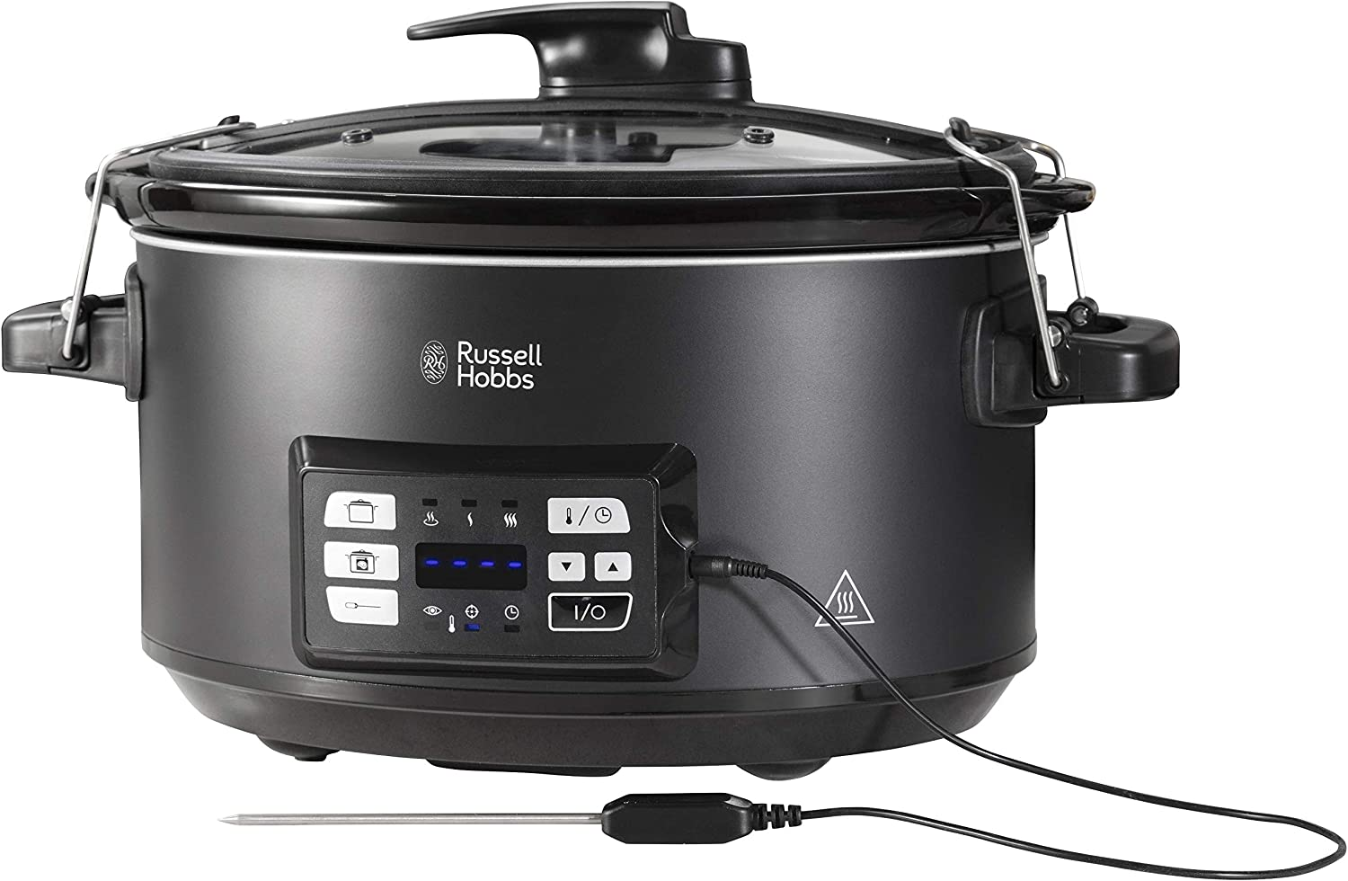Russell Hobbs 25630 Slow Cooker and Sous Vide Water Bath, Integrated Digital Display and Rack Frame Included, 6.5 Litre, Black