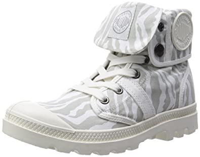 Palladium Pallabrouse Baggy P, Damen Desert Boots, Braun (zebra/off White 908), 37 Eu (4 Damen Uk)