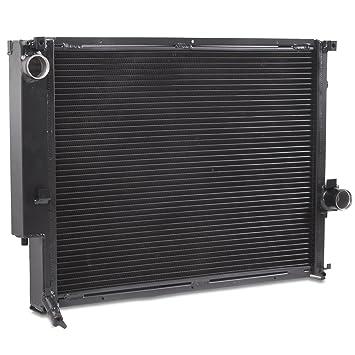 42 mm negro alto flujo aluminio doble núcleo Radiador de refrigeración del motor