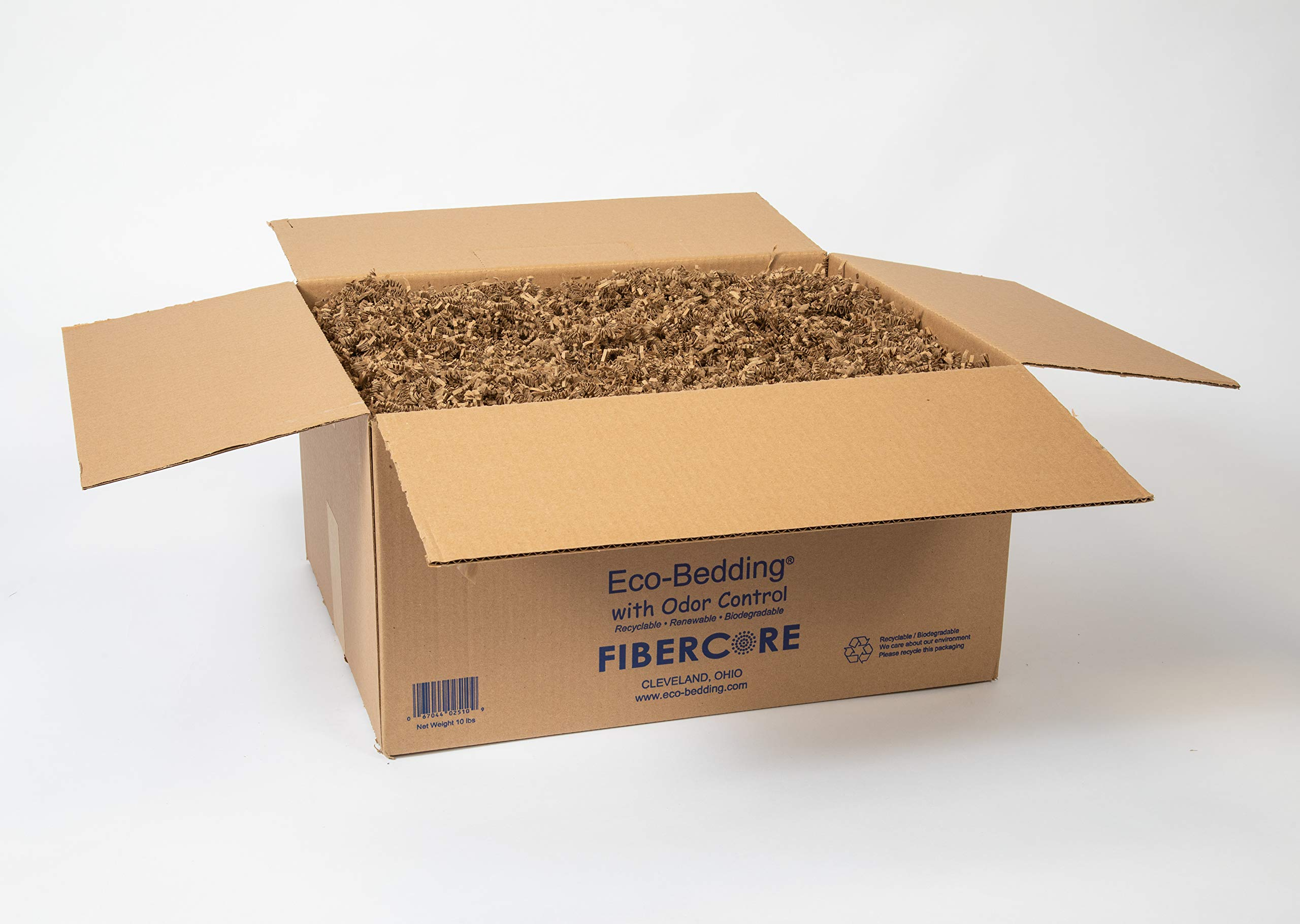 FiberCore Eco-Bedding Odor Control, 10 lb, Box Brown