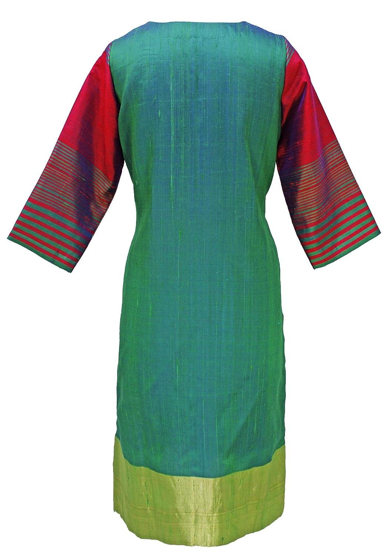 Amazon.com: Las mujeres del sur Seda clásico Kurta Kurti ...