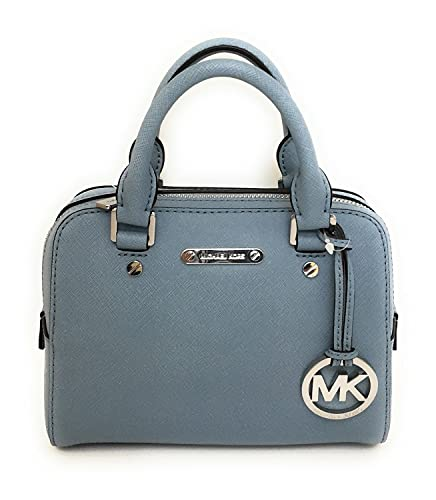 b9ff4687ed1f MICHAEL Michael Kors Jet Set Travel Saffiano Leather Small Satchel Bag,  Powder Blue: Handbags: Amazon.com