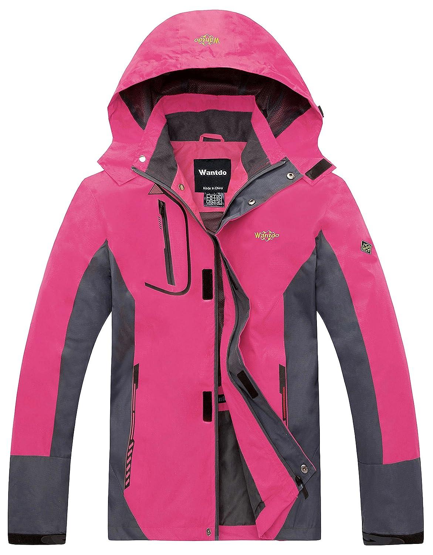 Wantdo Women's Hooded Lightweight Waterproof Rain Jacket Windproof Raincoat CaHW8301womenb