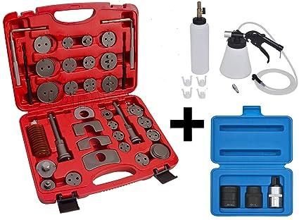 Kit para mantenimiento de frenos: Reposicionador de 35 piezas, Sangrador/purgador de frenos