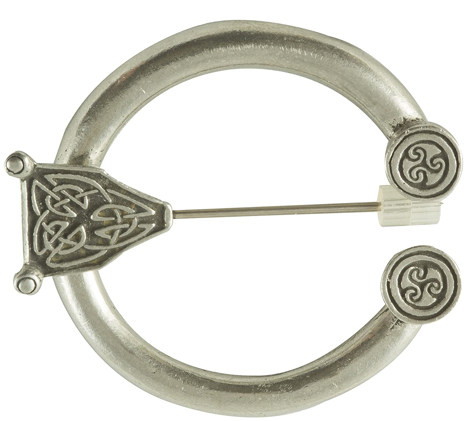 Attractive Antique Celtic Design Pewter Penannular Cloak Brooch Pin    DeluxeAdultCostumes.com