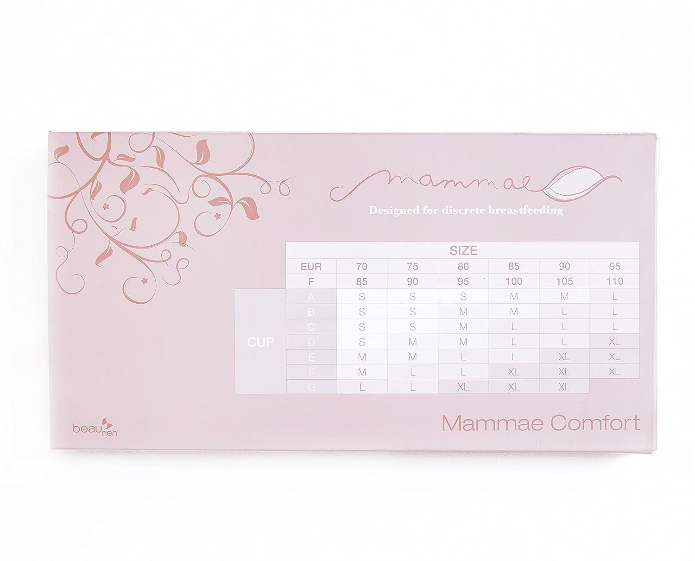 95F Mammae Comfort 3in1 mitwachsender Schwangerschafts-BH Still-BH und Sport-Still-BH in Blue Depth 70A