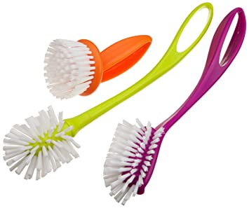 Lovely Casabella Loop 3 Piece Dish Brush Set