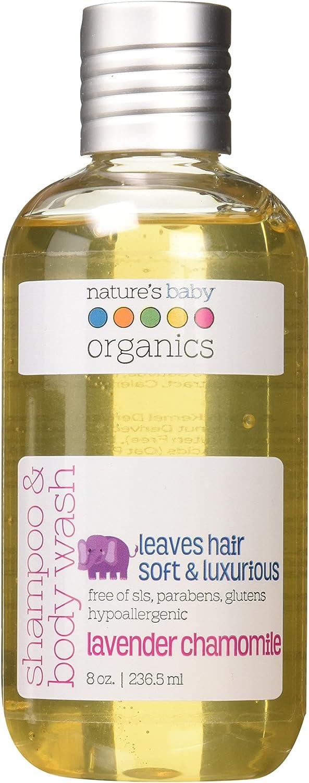 Nature's Baby Organics Shampoo & Body Wash, Vanilla Tangerine, 8 oz | Babies, Kids, & Adults! Moisturizing, Organic, Soft, Natural, Suave, Hypoallergenic | No Harsh Chemicals Or Parabens, SLS, Glutens