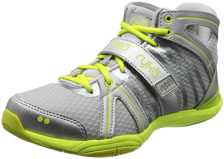 Ryka Women's Tenacity Cross-Trainer Shoe B074CMLNNH 8 B(M) US|Grey/Silver/Lime