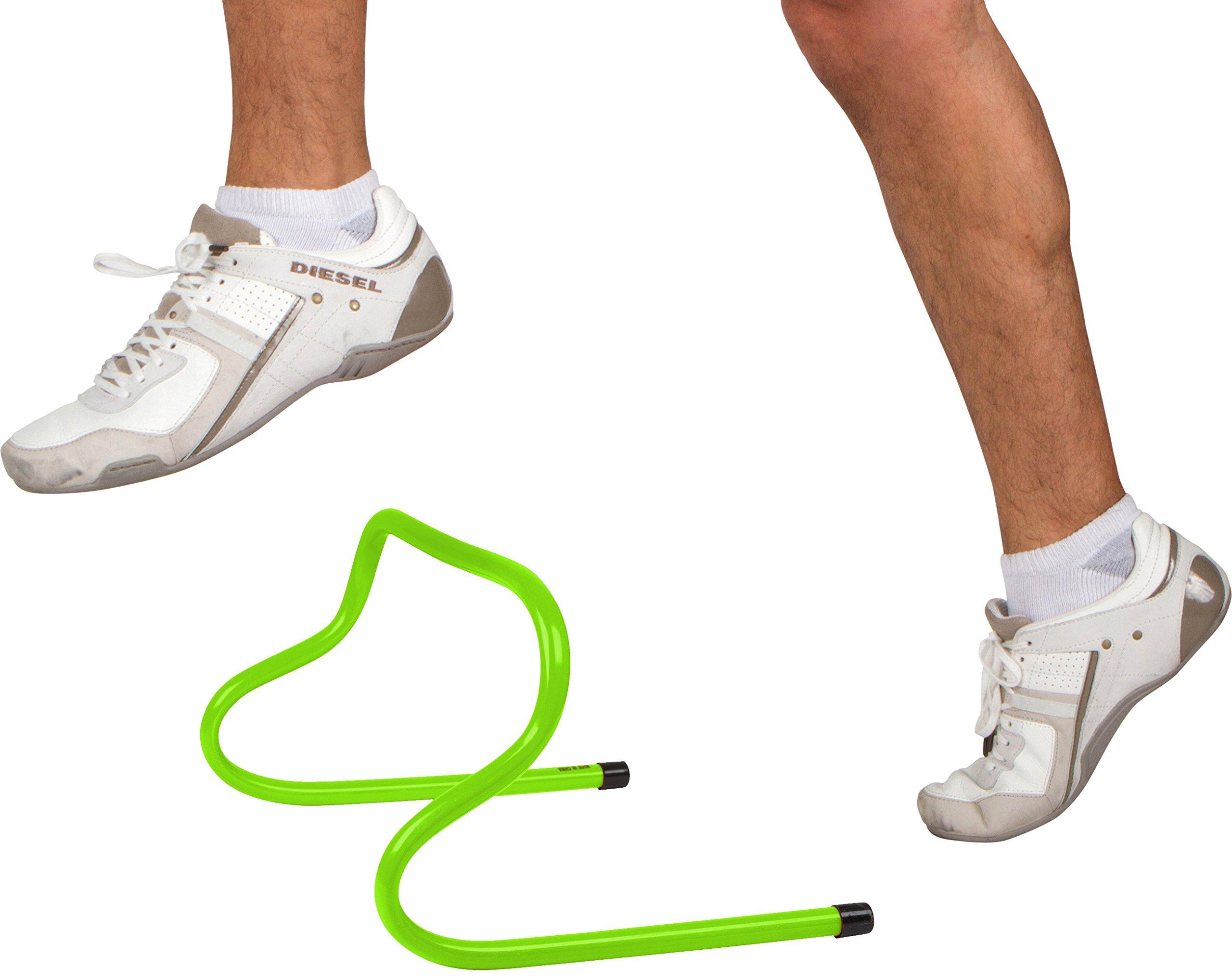 Trademark Innovations Speed Training Hurdle Set (5 Pack), 6'', Light Green by Trademark Innovations