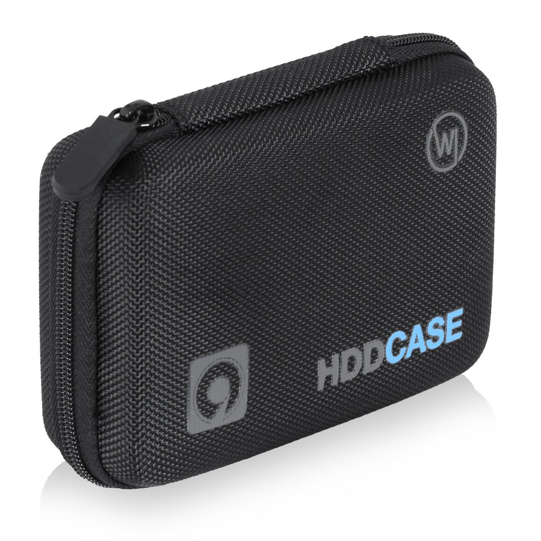Festplattentasche f/ür 2.5 Zoll Festplatte und SSD Wicked Chili 2,5 HDD Case 0,9 m Tasche mit Kabelfach, Innenma/ß: 12,8 x 8,3 x 3,5 cm /& Basics USB-3.0-Kabel A-Stecker auf Micro-B-Stecker