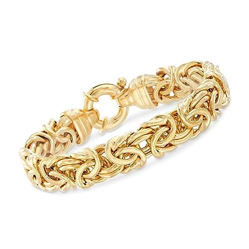 b8133c84f79c6 Ross-Simons Italian 24kt Gold Over Sterling Silver Byzantine Bracelet