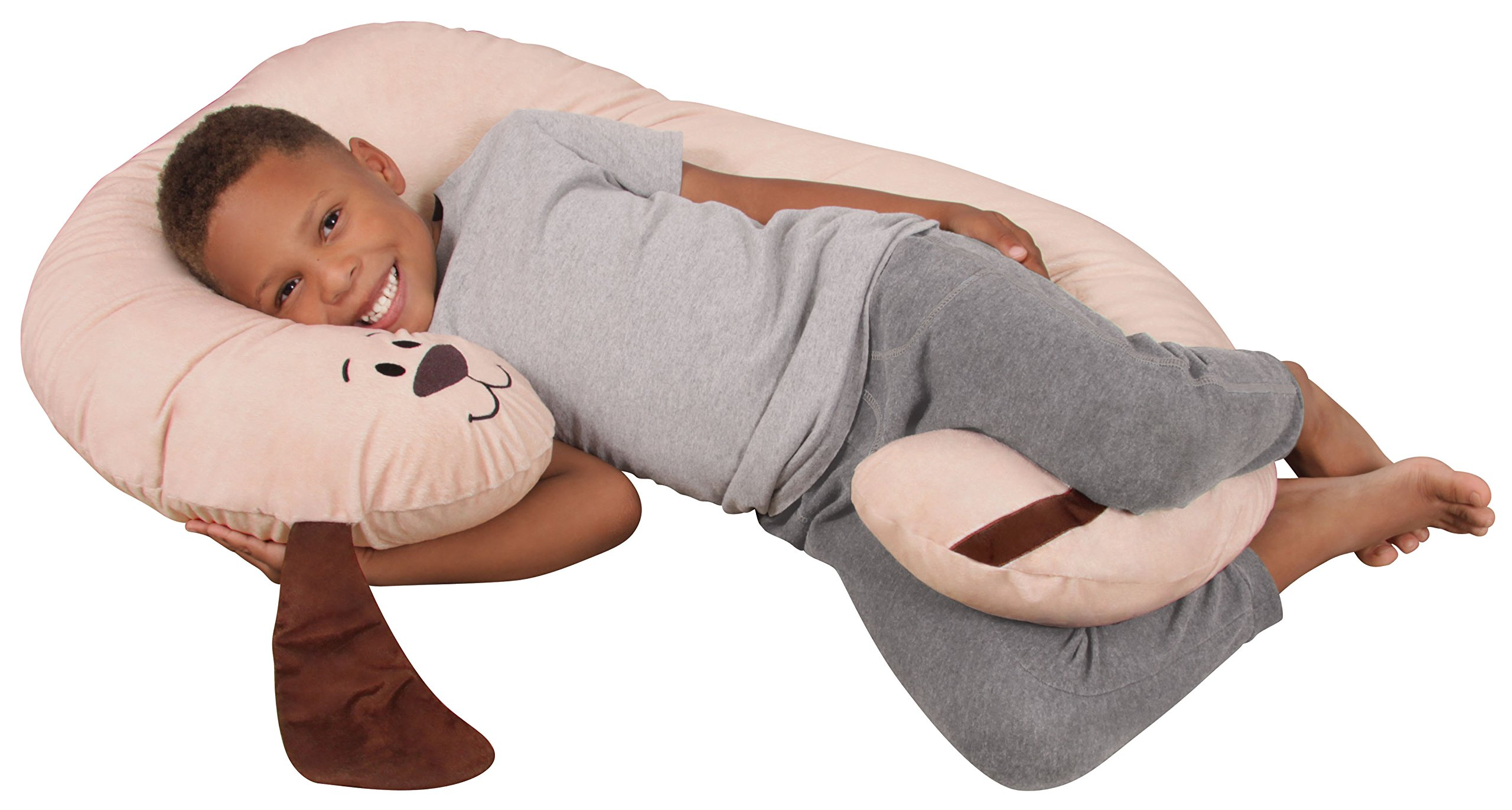 Leachco Snoogle Jr. - Luxuriously Soft Plush Puppy with Zippered Removable Cover - The Snuggle, Cuddle, Animal Body Pillow for Kids