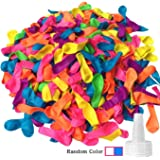 Hibery 500 Pack Water Balloons with Refill Kits Latex Bomb Fight Games-Summer Splash Fun for Kids and Adults