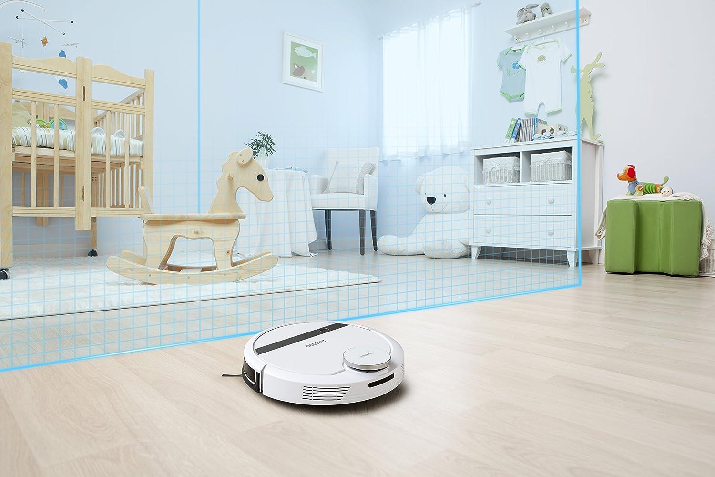 Wi-Fi et application Aspirateur robot intelligent-  barri/ères virtuelles ECOVACS ROBOTICS DEEBOT 900 brosse multifonction et aspiration directe