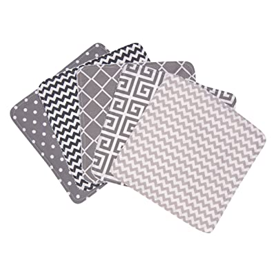 Ombre Gray 5 Pack Wash Cloth Set : Baby