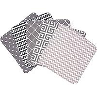 Trend Lab Ombre Gray Bouquet 5 Piece Wash Cloth Set