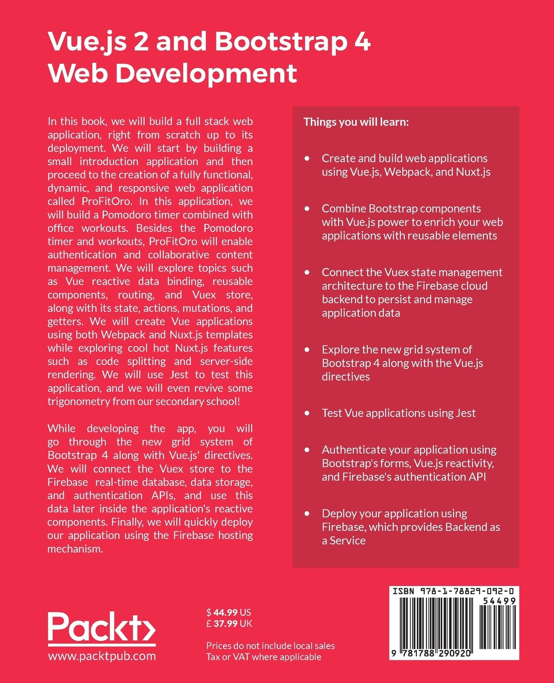 Buy Vue js 2 and Bootstrap 4 Web Development Book Online at