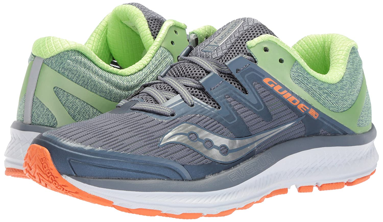 Saucony Women's Guide Iso Running Shoe B071JP34RX 9.5 B(M) US|Grey/Mint
