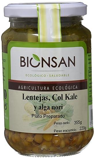 Bionsan Lentejas, Col Kale y Alga Nori - 6 Paquetes de 220 gr - Total