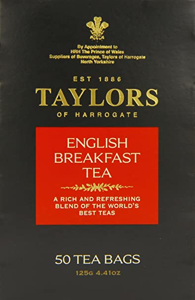 Taylors of Harrogate English Breakfast Tea, 50 Count Tea Bags, 4.41oz
