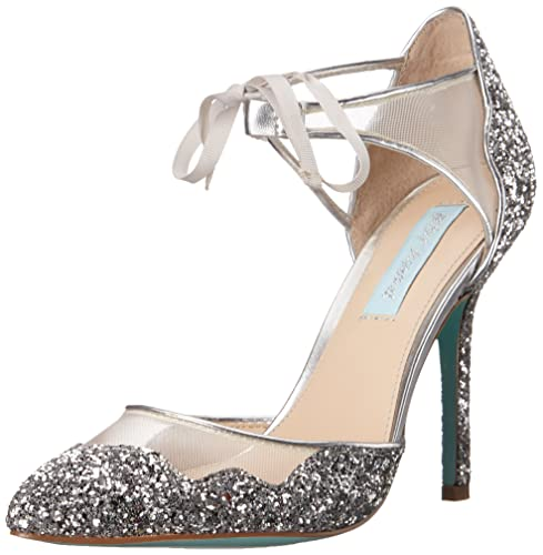 dfd30a46a Betsey Johnson Blue Women s Stela Dress Pump  Amazon.ca  Shoes ...