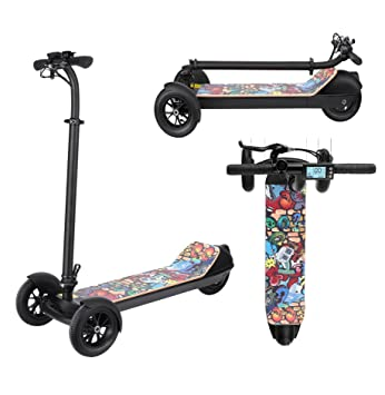 AIMADO E-Scooter Patinetes Electricos Plegable Ajustable de 3 Ruedas para Niños de 3-17 Años, ...
