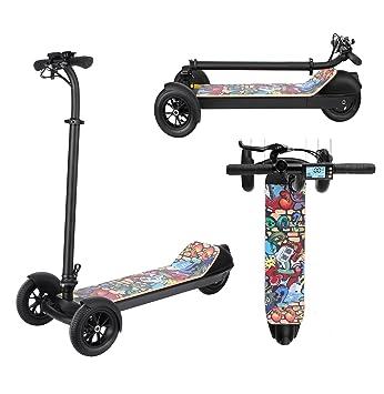 AIMADO E-Scooter Patinetes Electricos Plegable Ajustable de 3 Ruedas para Niños de 3-