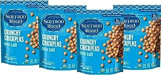 product image for Saffron Road Organic Crunchy Chickpea Snack, Sea Salt, 6oz (4 Pack) - Gluten Free, Non-GMO, Halal, Kosher, Vegan