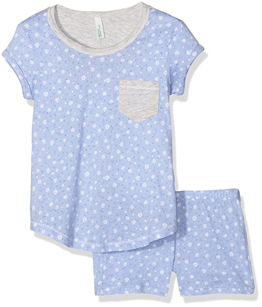 United Colors of Benetton Ditsy Flower, Pijama para Niñas, Azul (Blue),