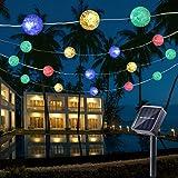 Guirnalda Luces Exterior Solares, BrizLabs 7M 50 LED Cadena de Luces Impermeable 8 Modos de Iluminación para Interiores…