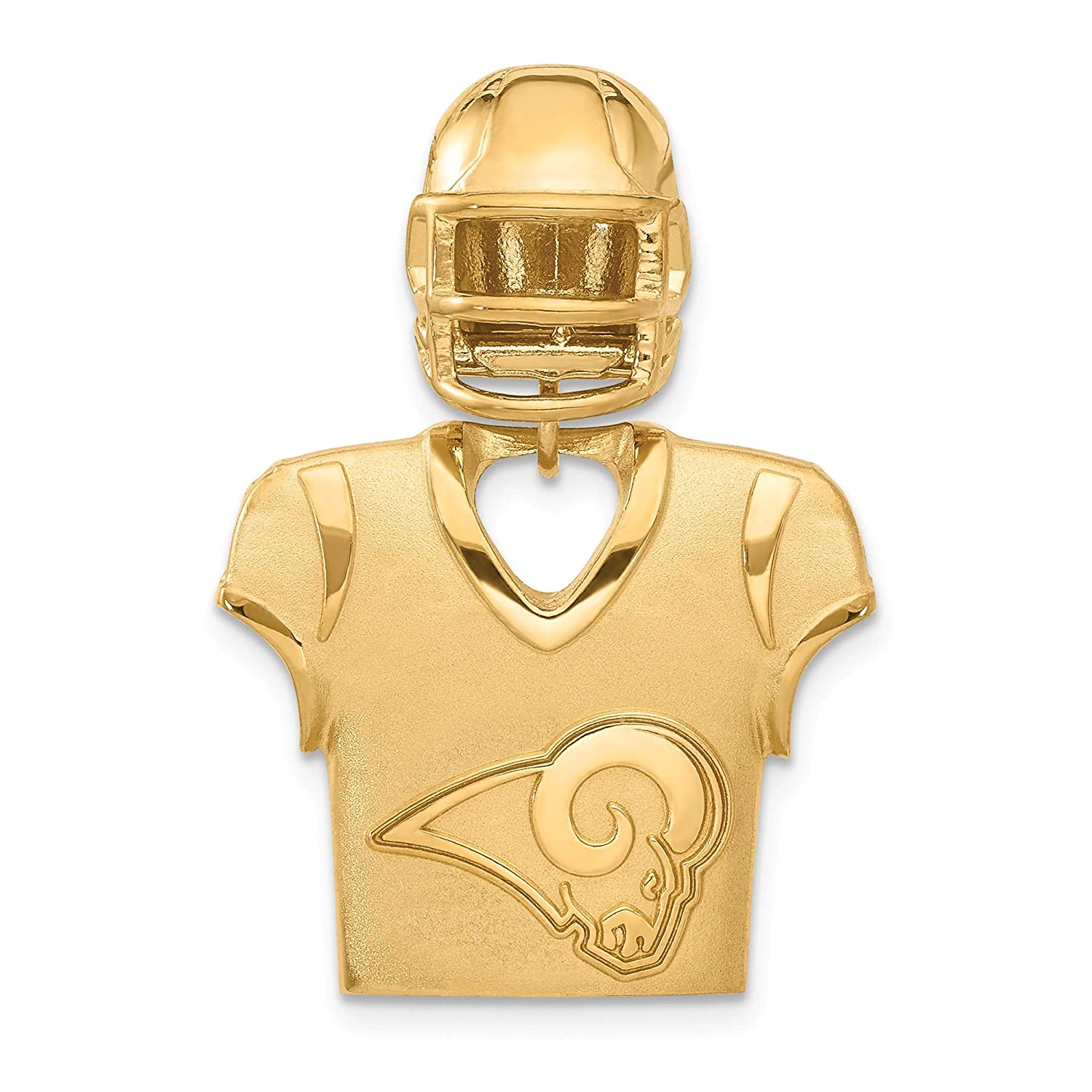 Kira Riley Gold Plated Los Angeles Rams Jersey /& Helmet Pendant for Chains and Necklaces