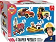 Jumbo - 619275 - Fireman Sam  Shaped Puzzle - 16 Pièces