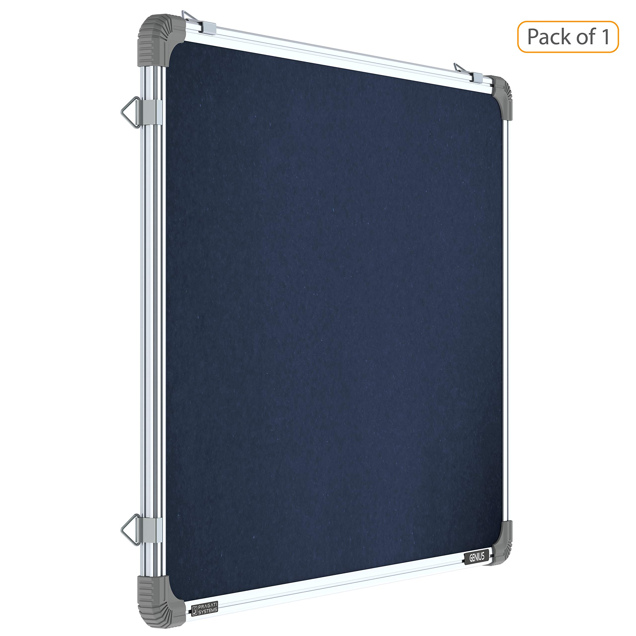 Pragati Systems® Genius Pin-up Display Board for Home, Kids, Office & School (GPUB6090), Lightweight Aluminium Frame, 2x3 Feet, Blue (Pack of 1) product image