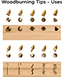 Sparkleberry Industries Wood Burning Tips and Stencils Includes (15) Pyrography Tool Tips, (12) Soldering Tips and (2) Plastic Stencils