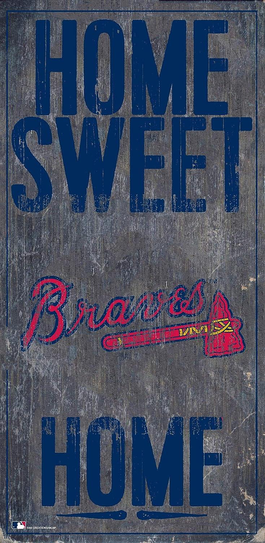 Fan Creations MLB Atlanta Braves Unisex Atlanta Braves Home Sweet Home Sign, Team Color, 6 x 12
