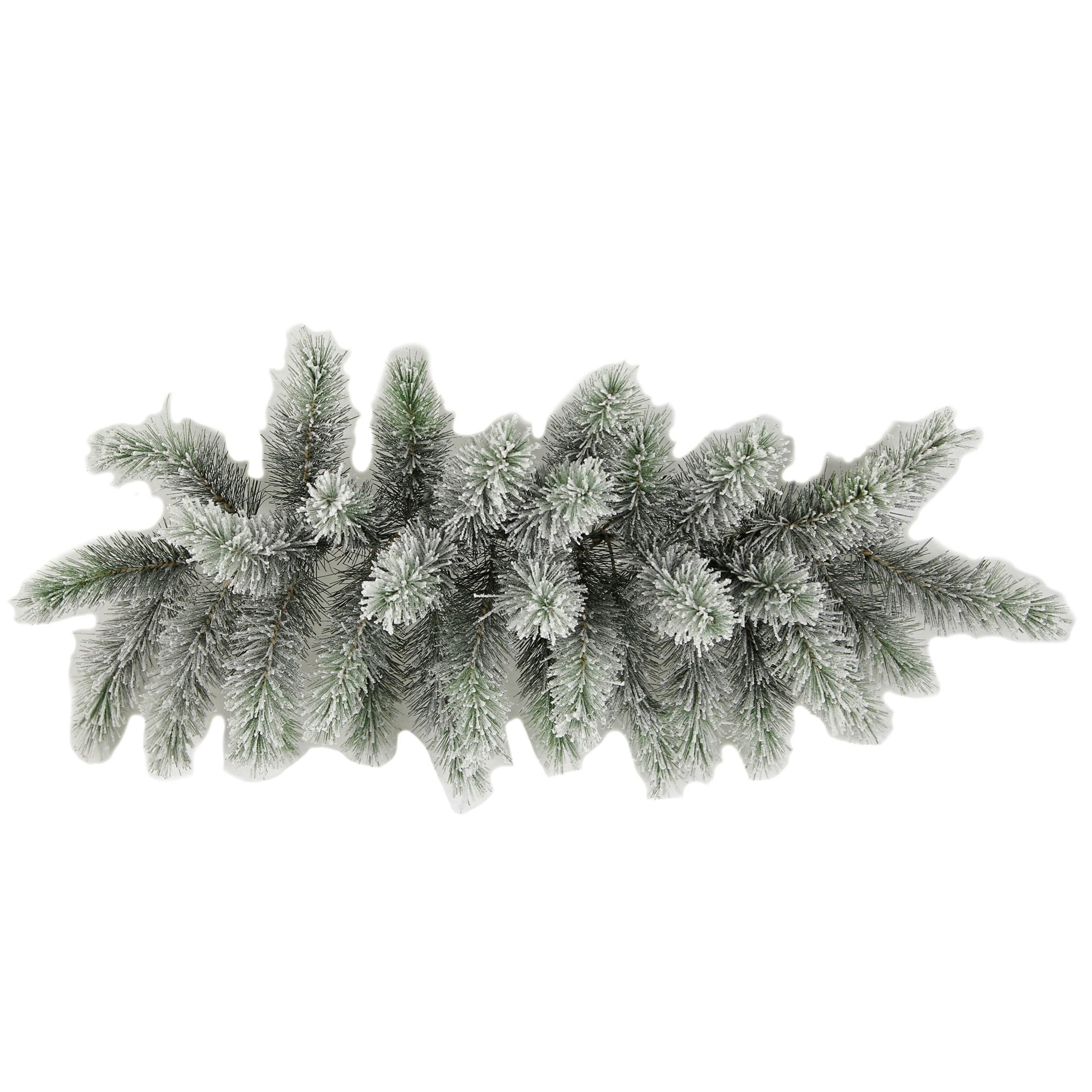 Admired By Nature GXW4914-SNOW 34 Tips Christmas Pine Swag with Frosted Snow Tips