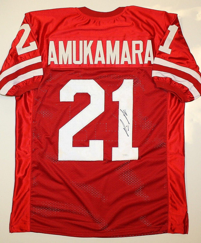 newest 56e64 ff9b7 Autographed Prince Amukamara Jersey - Red - JSA Certified ...