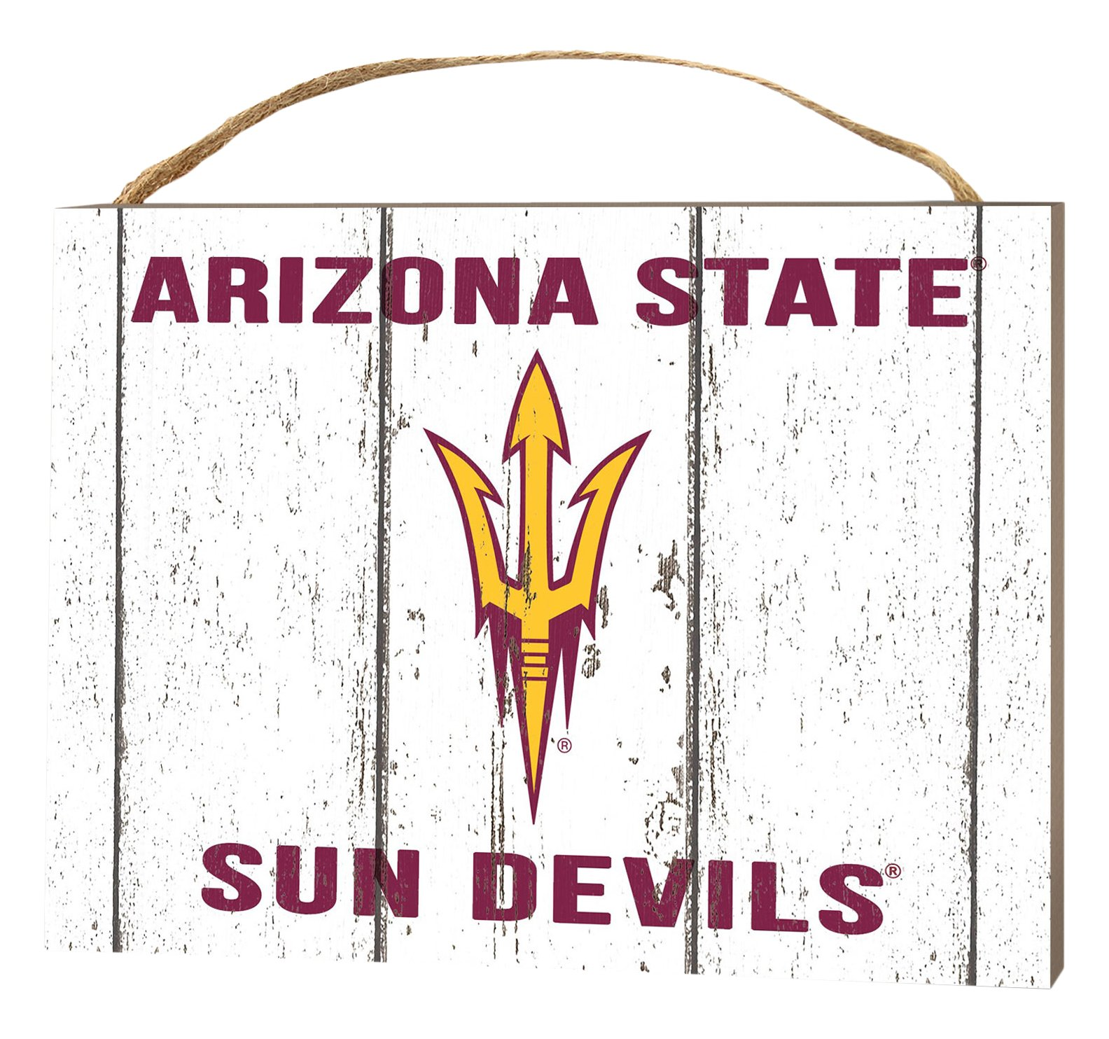 KH Sports Fan 4''X5.5'' Arizona State Sun Devils Weathered Logo Small College Plaque
