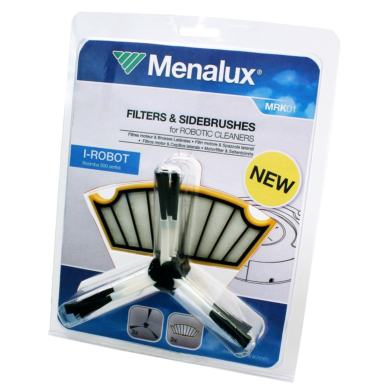 Menalux MRK01 MRK01-3 cepillos Laterales y 3 filtros compatibles con el Robot Roomba Serie 500, Otro: Amazon.es: Hogar