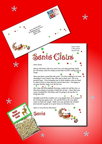 Personalised letter from santa with reindeer food amazon personalised letter from santa with reindeer food spiritdancerdesigns Image collections